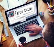 Концепция календарного дня назначения повестки дня срока оплаты стоковые изображения rf