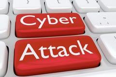 Концепция кибер атаки Стоковые Фото