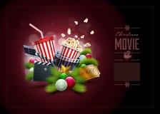 Концепция кино рождества Стоковая Фотография