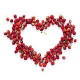 Концепция клубники сердца формы рамки здоровая Стоковые Изображения