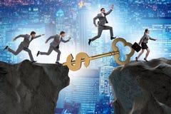 Концепция ключа к финансовым успеху и процветанию Стоковая Фотография