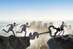 Концепция ключа к финансовым успеху и процветанию Стоковые Изображения