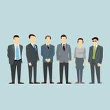 Концепция команды бизнесменов людей группы Вектор плоский Стоковое Изображение RF