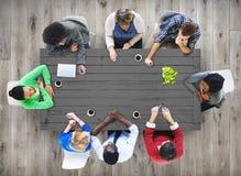 Концепция команды встречи обсуждения команды дела Стоковое Фото