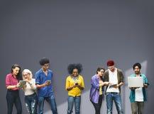 Концепция команды отношения студента соединения коллег Стоковые Изображения