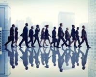 Концепция команды сцены корпоративного офиса дела коллеги городская Стоковое Изображение