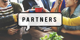 Концепция команды сыгранности сотрудничества союзничества партнеров стоковые изображения