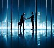Концепция команды успеха поддержки партнерства бизнесменов Стоковые Изображения