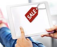 Концепция коммерции бирки ярлыка скидки продажи Стоковая Фотография RF
