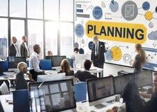 Концепция коммерческих информаций глобального бизнеса стратегии планирования Стоковые Изображения