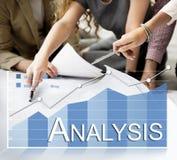 Концепция коммерческой статистики аналитика анализа Стоковое Изображение RF
