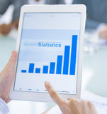 Концепция коммерческой статистики цифров онлайн Стоковая Фотография RF
