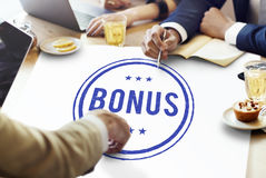 Концепция компенсации призовой выгоды бонуса стимулирующая дополнительная Стоковая Фотография