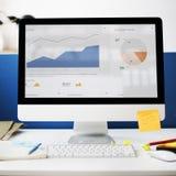 Концепция компьютера маркетинга стратегии успеха роста диаграммы Стоковое фото RF