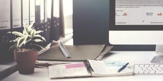 Концепция компьютера маркетинга стратегии успеха роста диаграммы Стоковые Фото