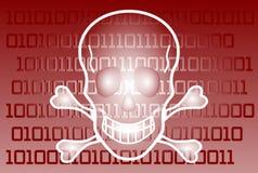 Концепция компьютерного вируса иллюстрация штока
