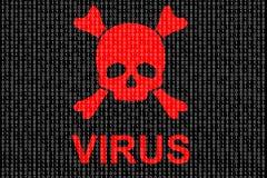 Концепция компьютерного вируса иллюстрация вектора