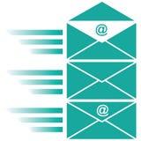Концепция конверта электронной почты Стоковые Изображения RF