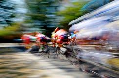 Концепция конкуренции катания велосипеда гонки дороги Стоковое Изображение