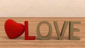 Концепция конспекта сердца влюбленности Стоковые Фото