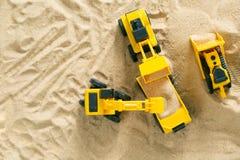 Концепция конструкции - забавляйтесь модельное машинное оборудование на sald Стоковая Фотография