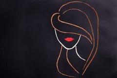 Концепция Контур женщины головной стоковое фото