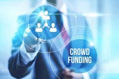Концепция концепции дела Crowdfunding Стоковое Изображение