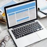 Концепция космоса экземпляра шаблона веб-дизайна Стоковое Изображение