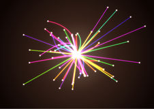 Концепция космофизики исследование научное Столкновение частиц в коллайдере адрона Иллюстрация штока