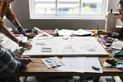 Концепция костюма чертежа эскиза модельера Стоковое Изображение