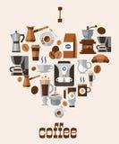 Концепция кофе влюбленности бесплатная иллюстрация