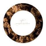 Концепция кофе круга и пустого места для текста Стоковое Фото