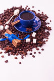 Концепция кофе на белой предпосылке Стоковые Изображения RF