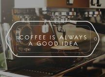 Концепция кофе пара Barista напитка chill будя Стоковое Изображение