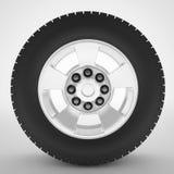 Концепция колеса автомобиля автомобильная Иллюстрация штока
