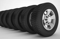 Концепция колеса автомобиля автомобильная Стоковые Изображения