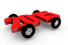 концепция 2015 колеса автомобиля 3d Стоковое фото RF