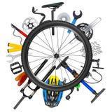 Концепция колеса велосипеда Стоковое фото RF