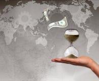 Концепция крайнего срока задолженности мира Стоковые Изображения RF