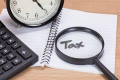 Концепция крайнего срока налога Стоковые Изображения