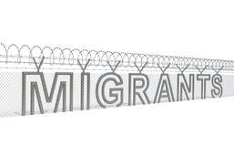 Концепция кризиса миграции иллюстрация вектора