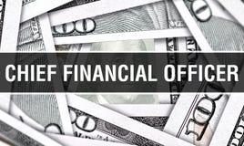 Концепция крупного плана финансового директора Американские доллары денег наличных денег, перевода 3D Финансовый директор на банк стоковое изображение rf