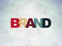 Концепция маркетинга: Бренд на предпосылке бумаги цифровых данных стоковая фотография rf