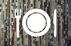 Концепция маркетинга ресторана, доставки еды стоковые изображения