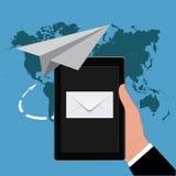 Концепция маркетинга электронной почты, иллюстрация вектора Стоковое Изображение RF