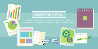 Концепция маркетингового плана Стоковые Фото