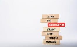 Концепция маркетингового плана Стоковое Изображение