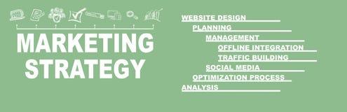Концепция маркетинговой стратегии Ключевые слова и значки стоковая фотография rf