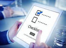 Концепция Марк документа решения контрольного списока отборная стоковое изображение