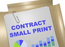 Концепция малой печати контракта иллюстрация штока